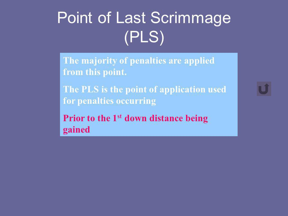 Point of Last Scrimmage (PLS)