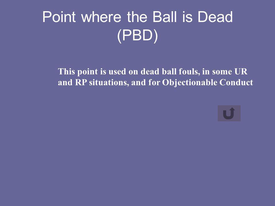 Point where the Ball is Dead (PBD)
