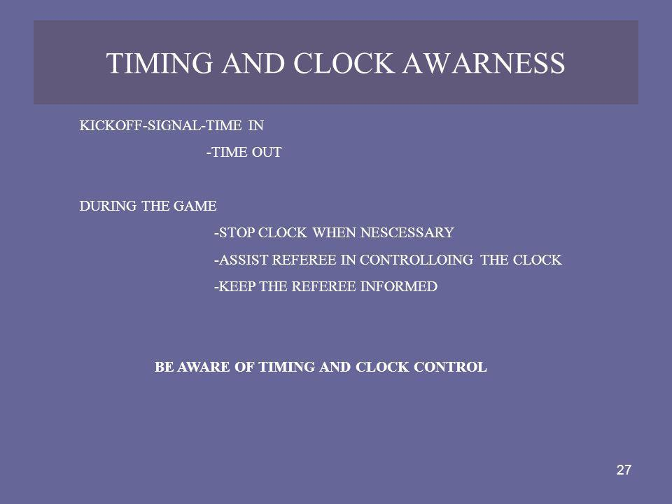 TIMING AND CLOCK AWARNESS