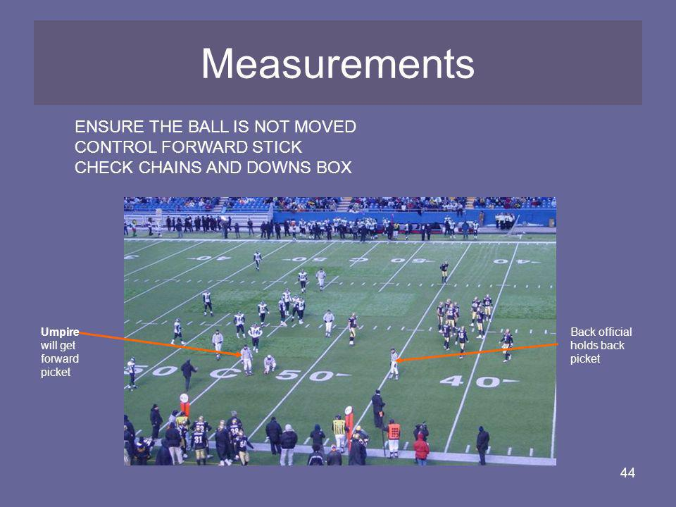 Measurements Measurements ENSURE THE BALL IS NOT MOVED
