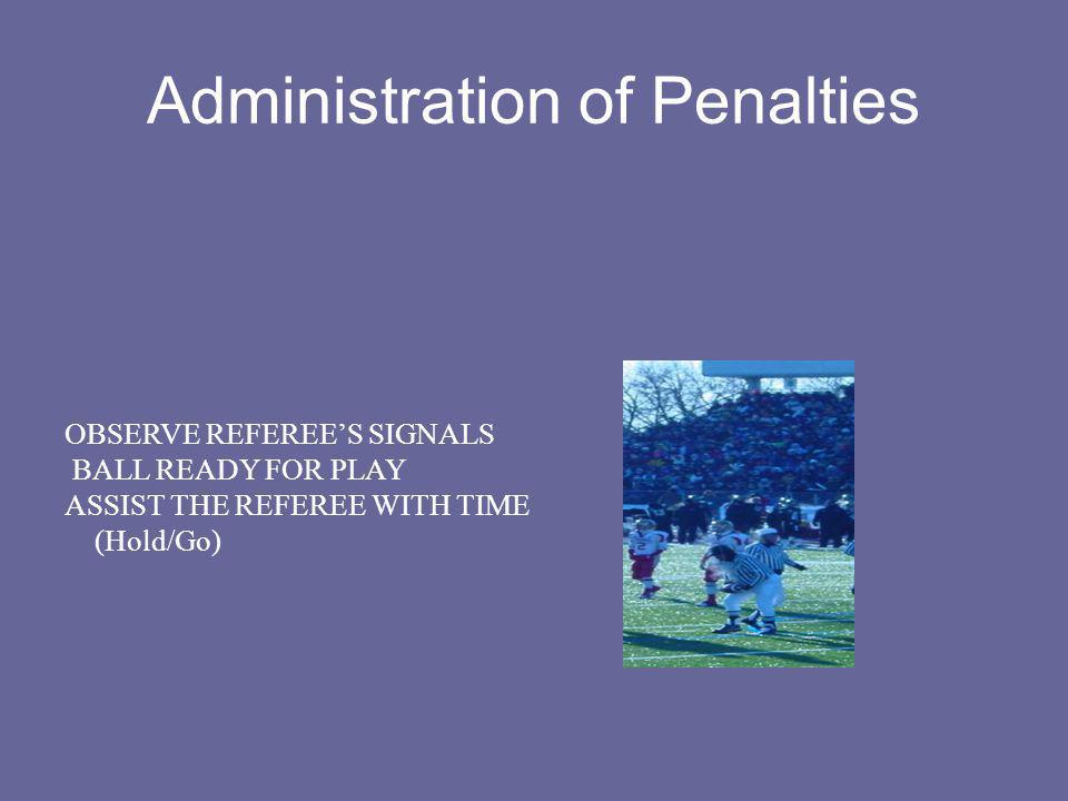 Administration of Penalties