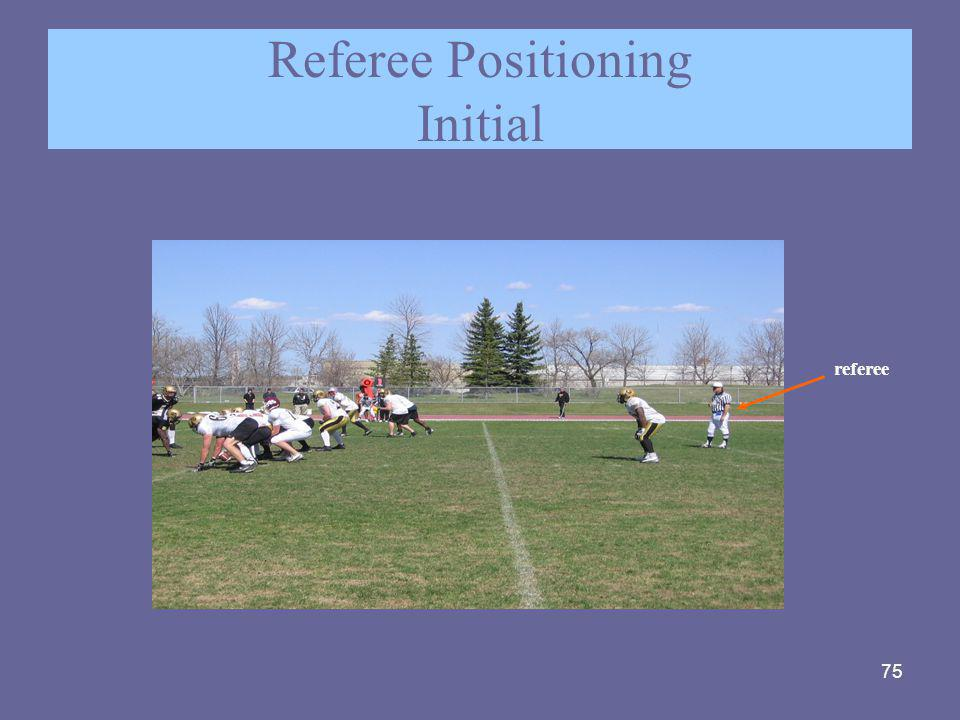 Referee Positioning Initial