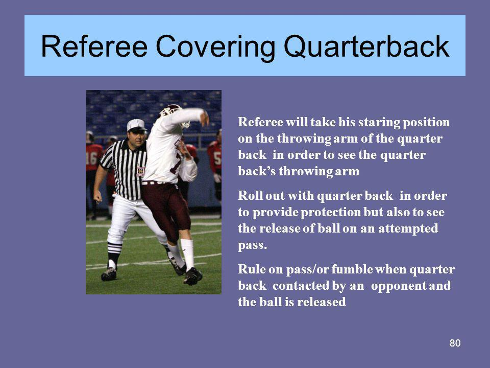 Referee Covering Quarterback