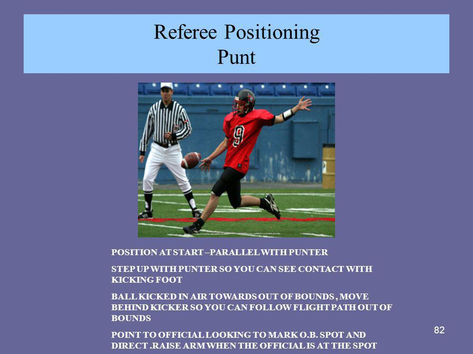 Referee Positioning Punt