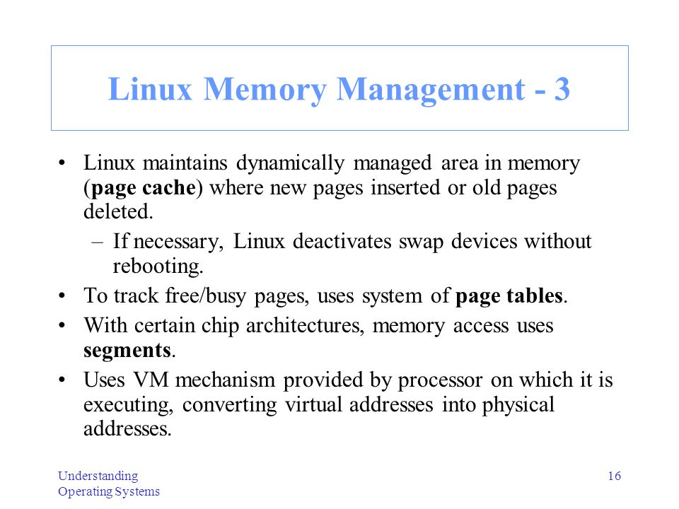 Linux Memory Management - 3