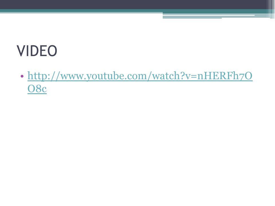 VIDEO http://www.youtube.com/watch v=nHERFh7O O8c