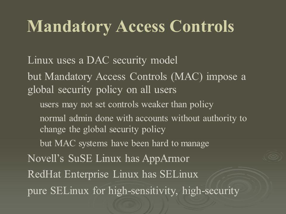 Mandatory Access Controls