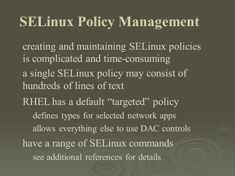 SELinux Policy Management