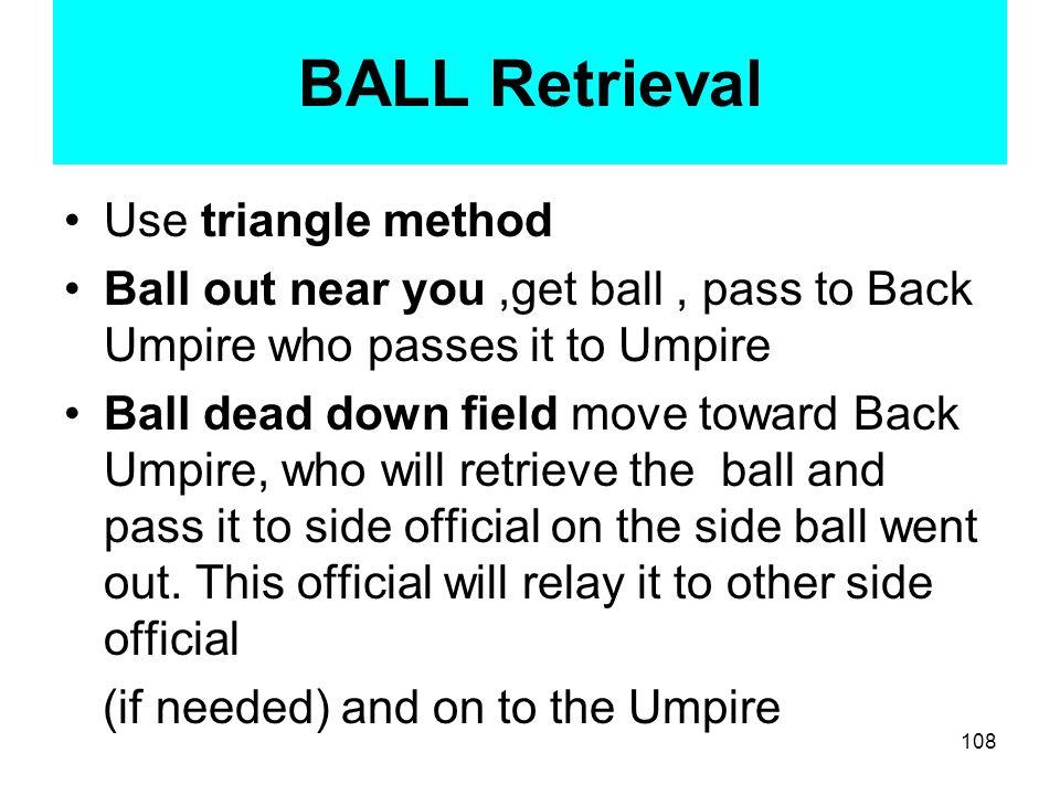 BALL Retrieval Use triangle method