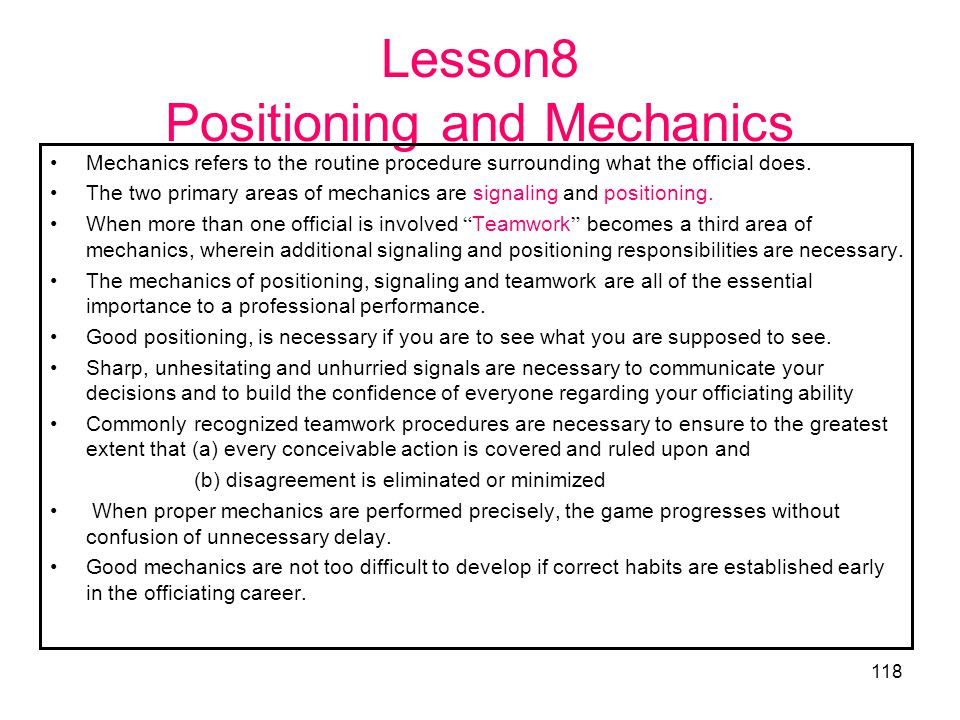 Lesson8 Positioning and Mechanics
