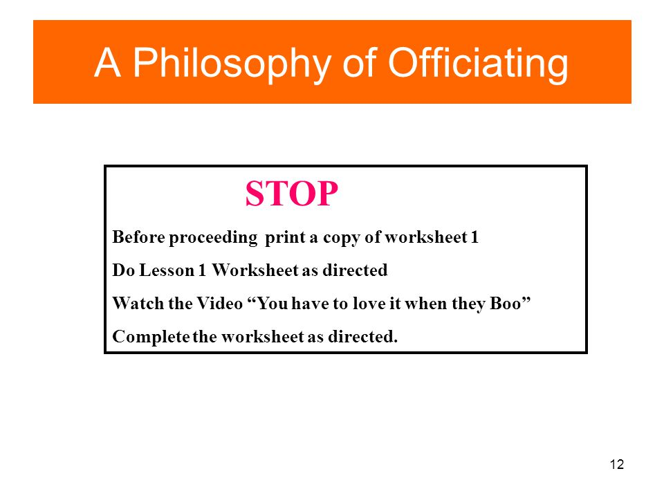 A Philosophy of Officiating