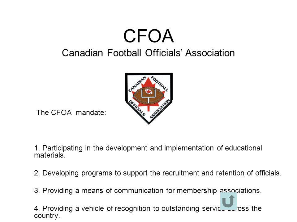 CFOA Canadian Football Officials' Association