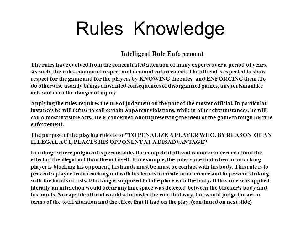 Rules Knowledge Intelligent Rule Enforcement