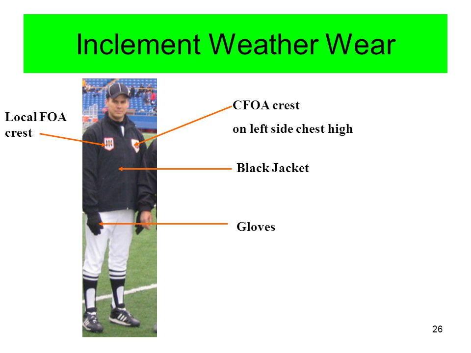 Inclement Weather Wear