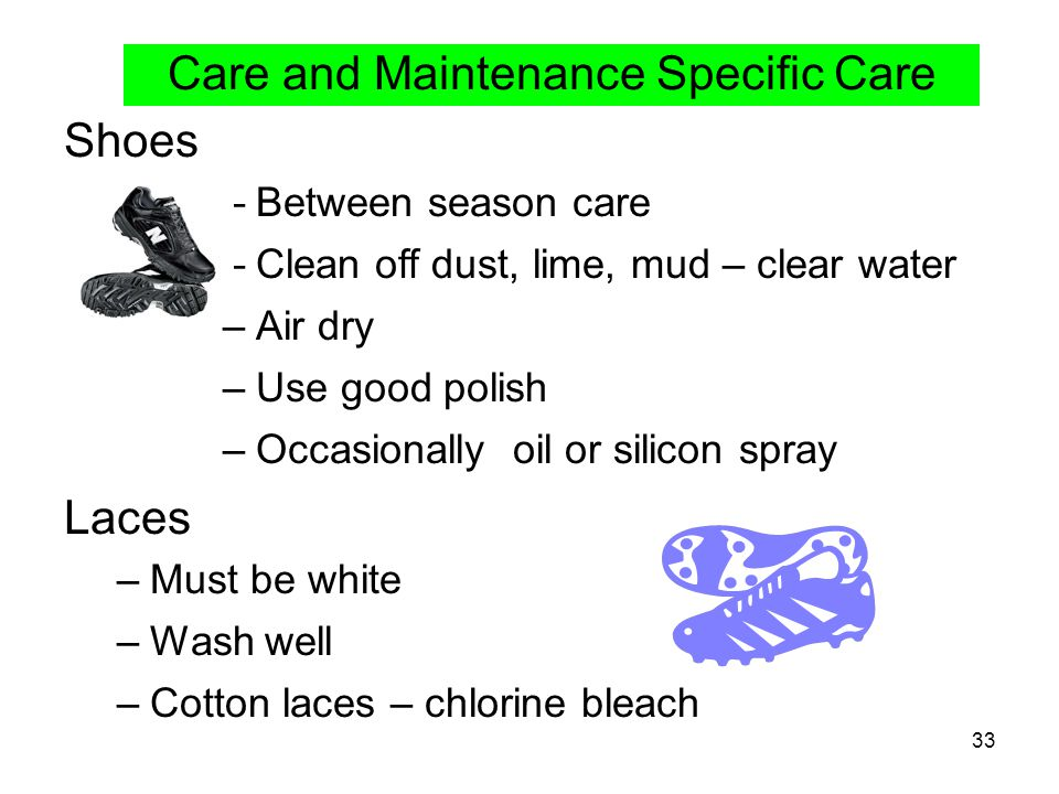 Care and Maintenance Specific Care