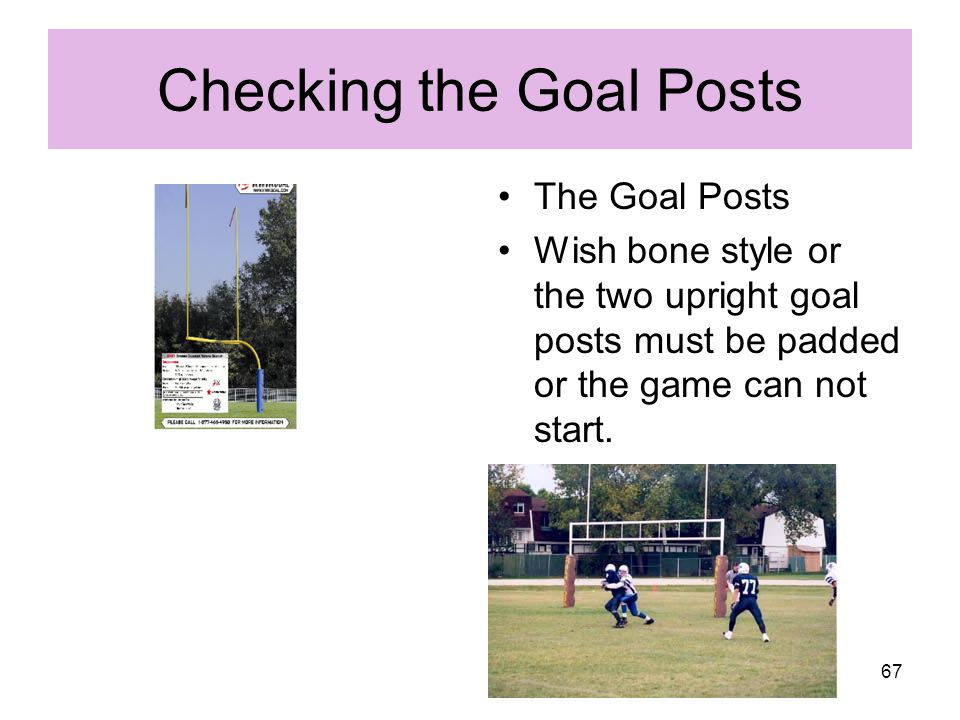 Checking the Goal Posts