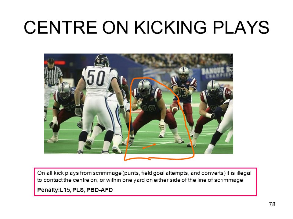 CENTRE ON KICKING PLAYS