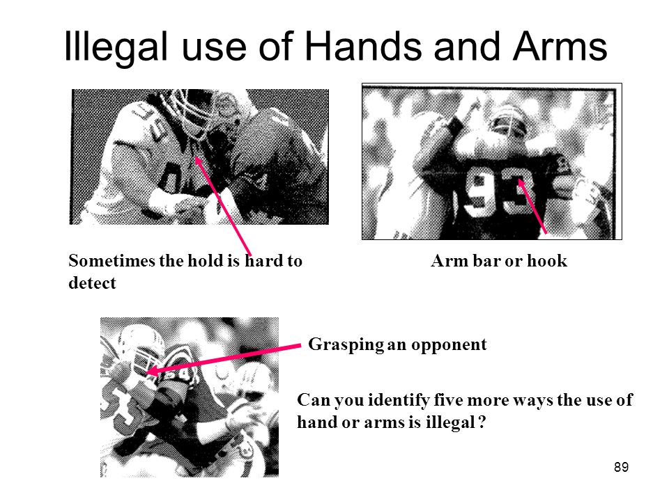 Illegal use of Hands and Arms