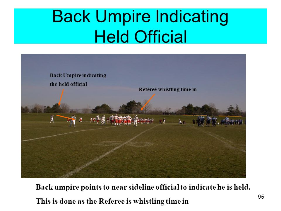 Back Umpire Indicating Held Official