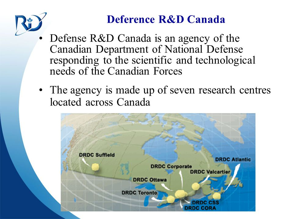 The agency is made up of seven research centres located across Canada