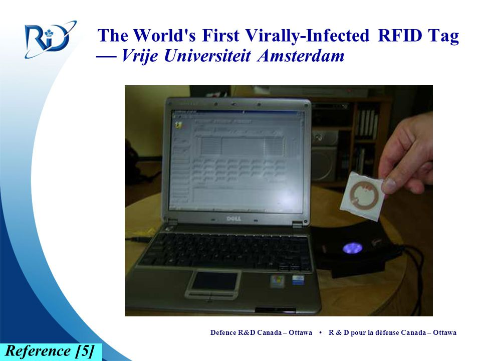 The World s First Virally-Infected RFID Tag  Vrije Universiteit Amsterdam