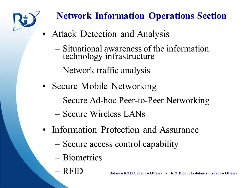 Network Information Operations Section