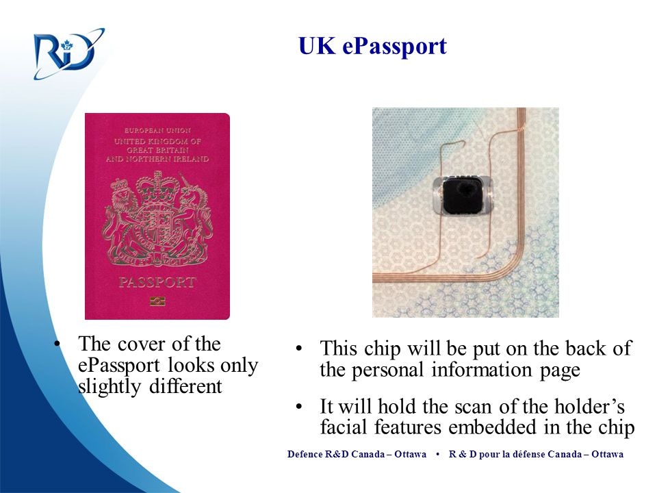 UK ePassport The cover of the ePassport looks only slightly different