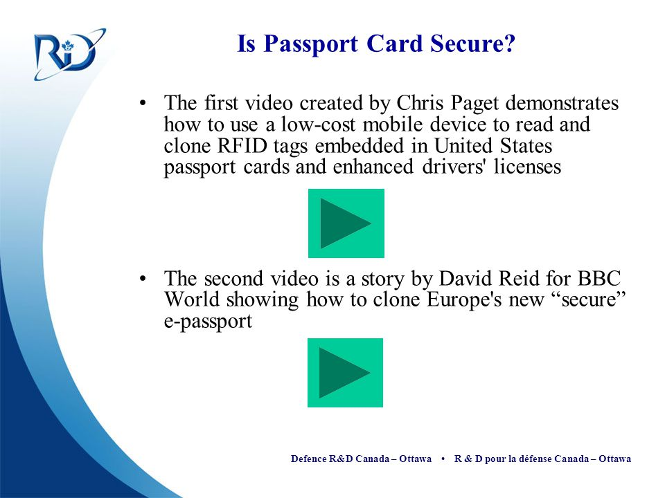 Is Passport Card Secure
