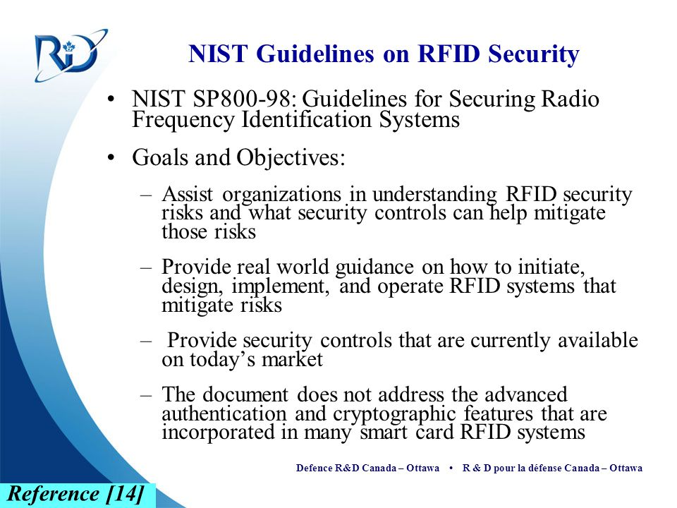 NIST Guidelines on RFID Security