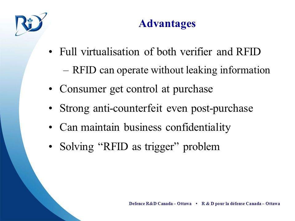 Full virtualisation of both verifier and RFID