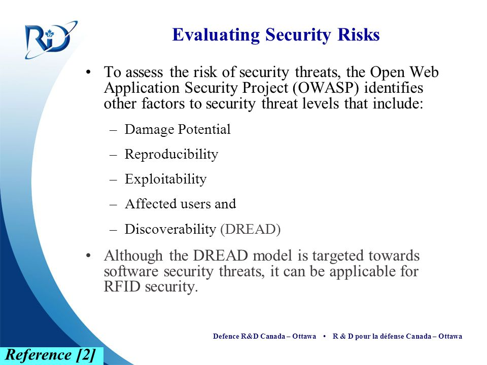 Evaluating Security Risks