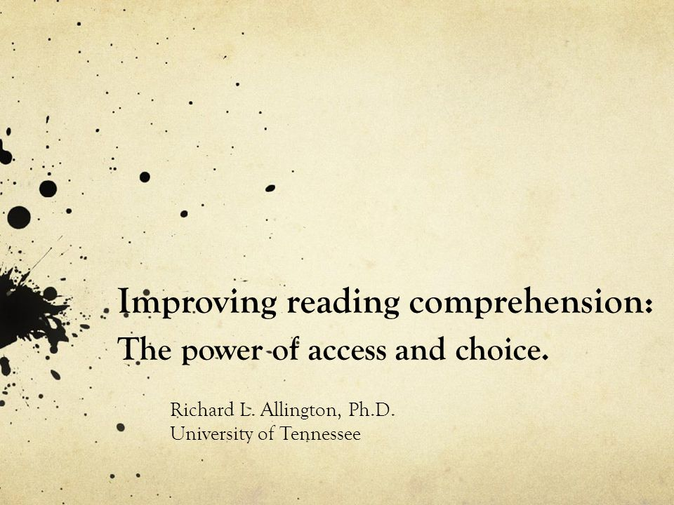 Improving reading comprehension: The power of access and choice.