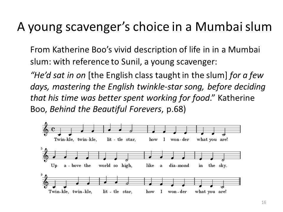 A young scavenger's choice in a Mumbai slum