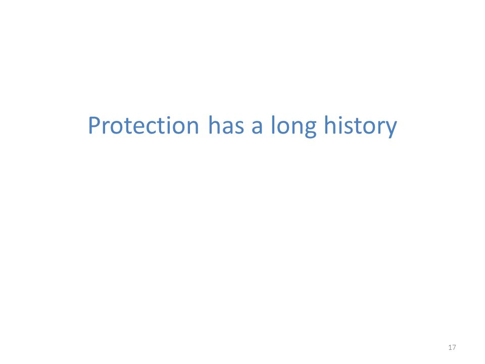 Protection has a long history