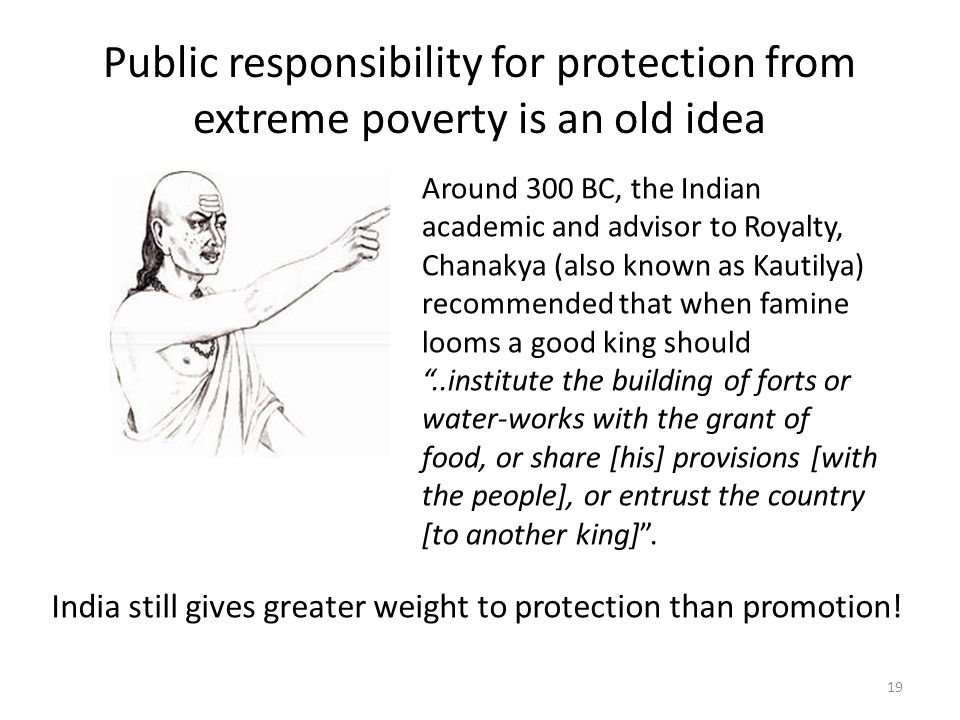 Public responsibility for protection from extreme poverty is an old idea