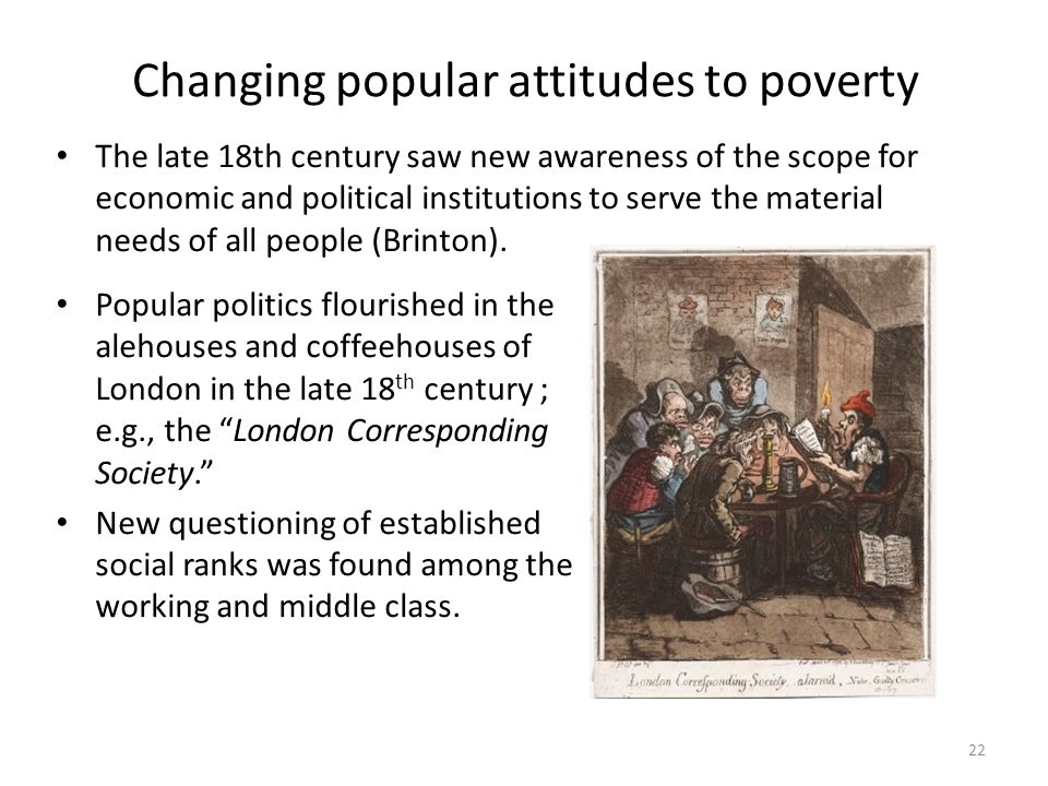 Changing popular attitudes to poverty
