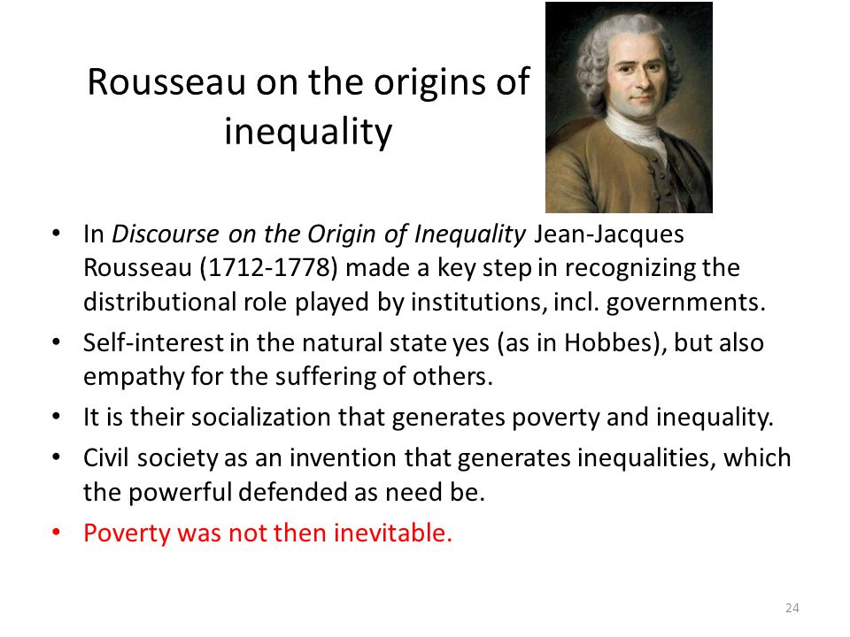 Rousseau on the origins of inequality