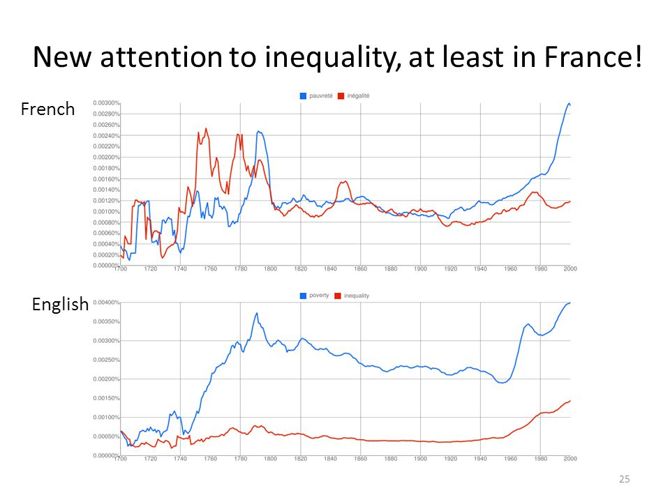 New attention to inequality, at least in France!