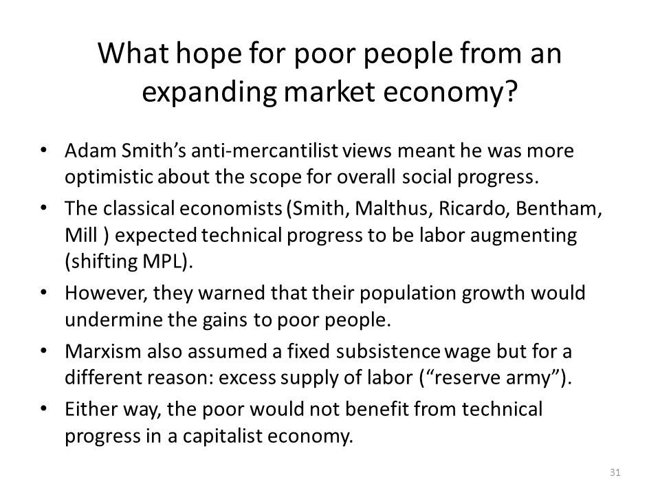 What hope for poor people from an expanding market economy