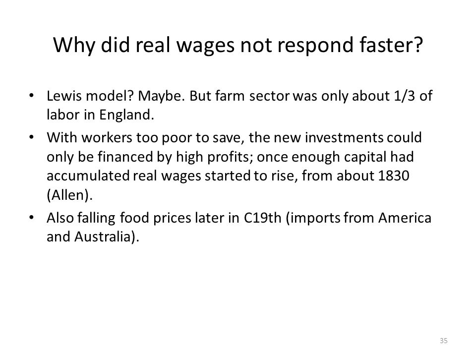 Why did real wages not respond faster