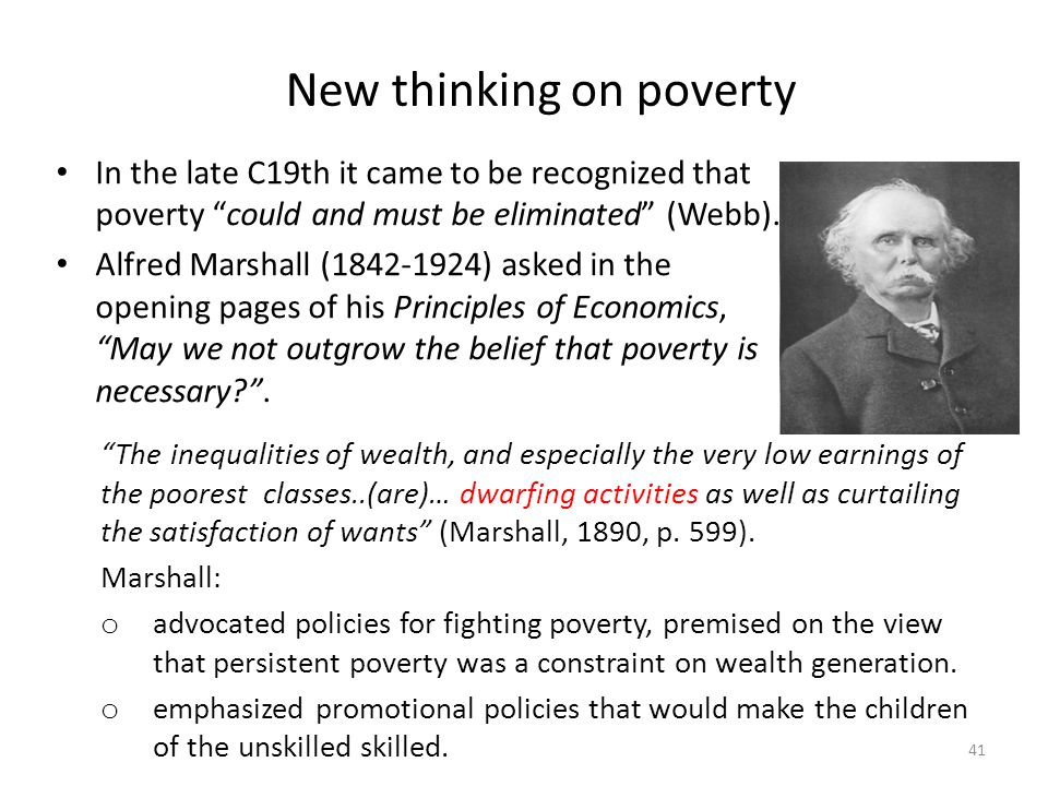 New thinking on poverty