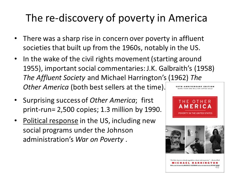 The re-discovery of poverty in America