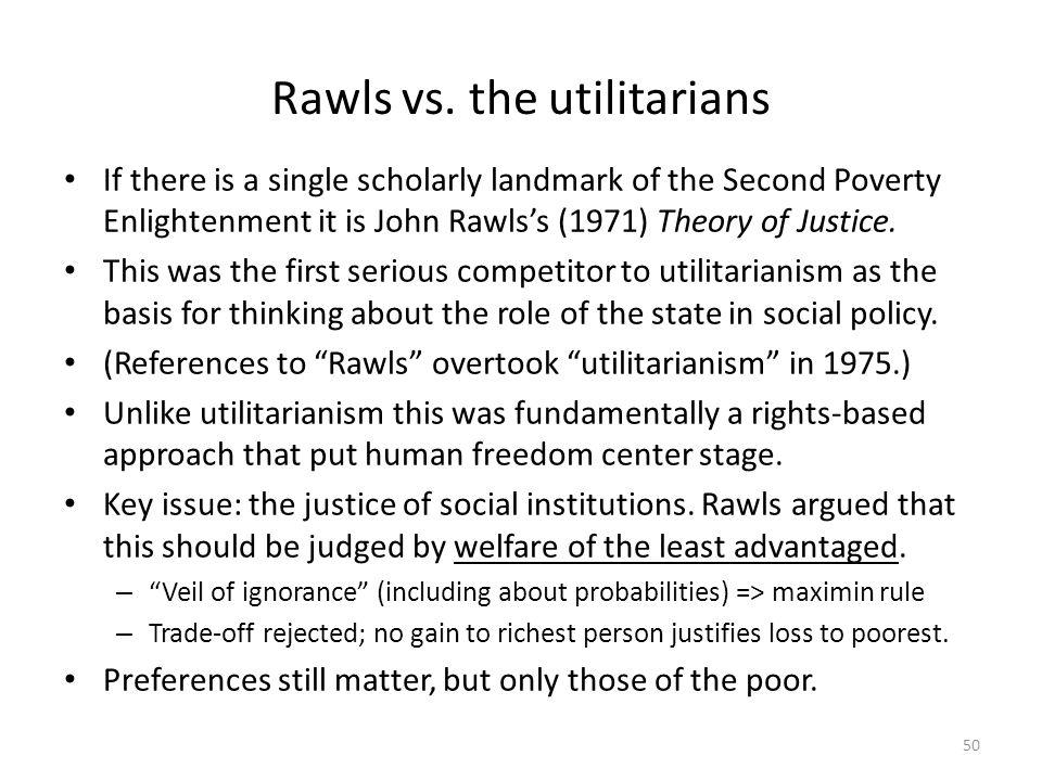 Rawls vs. the utilitarians