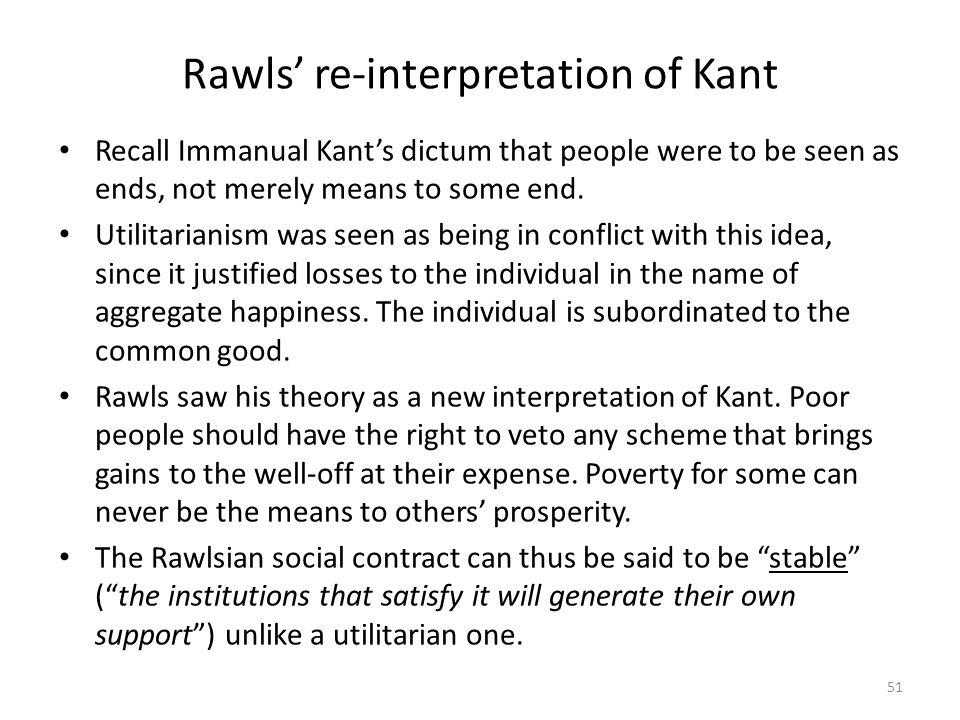 Rawls' re-interpretation of Kant
