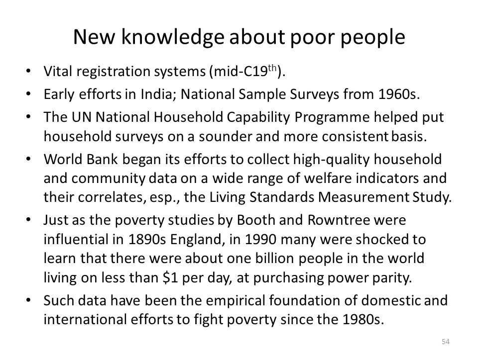 New knowledge about poor people