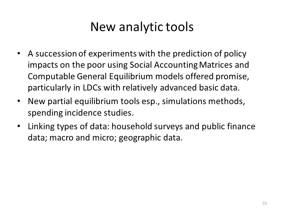 New analytic tools
