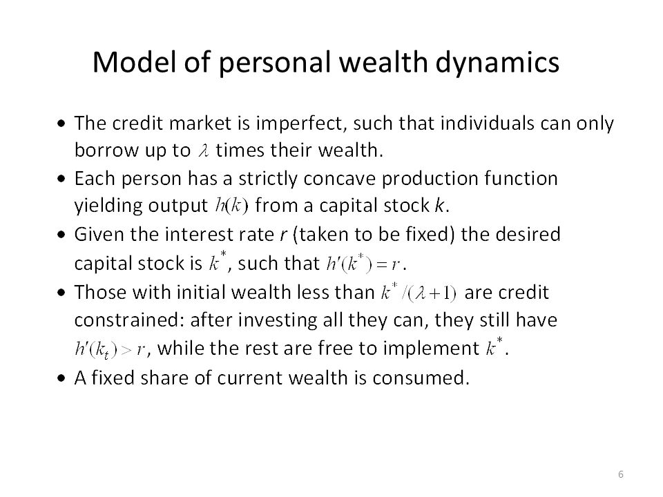 Model of personal wealth dynamics