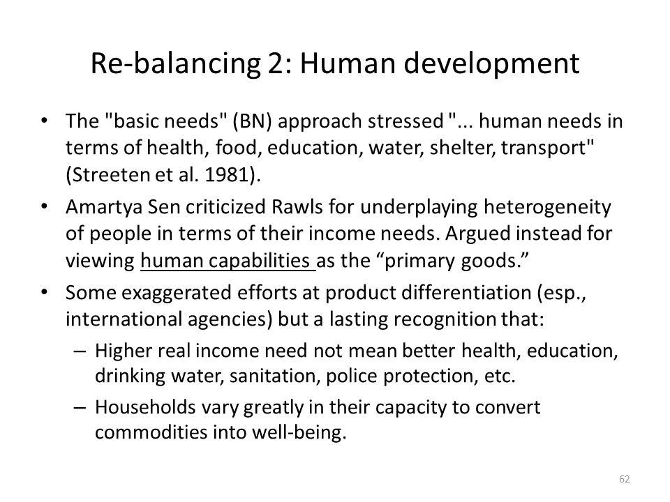 Re-balancing 2: Human development