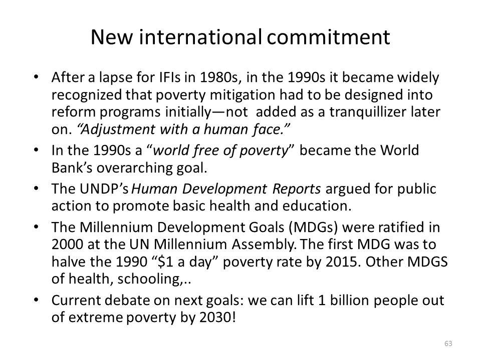 New international commitment