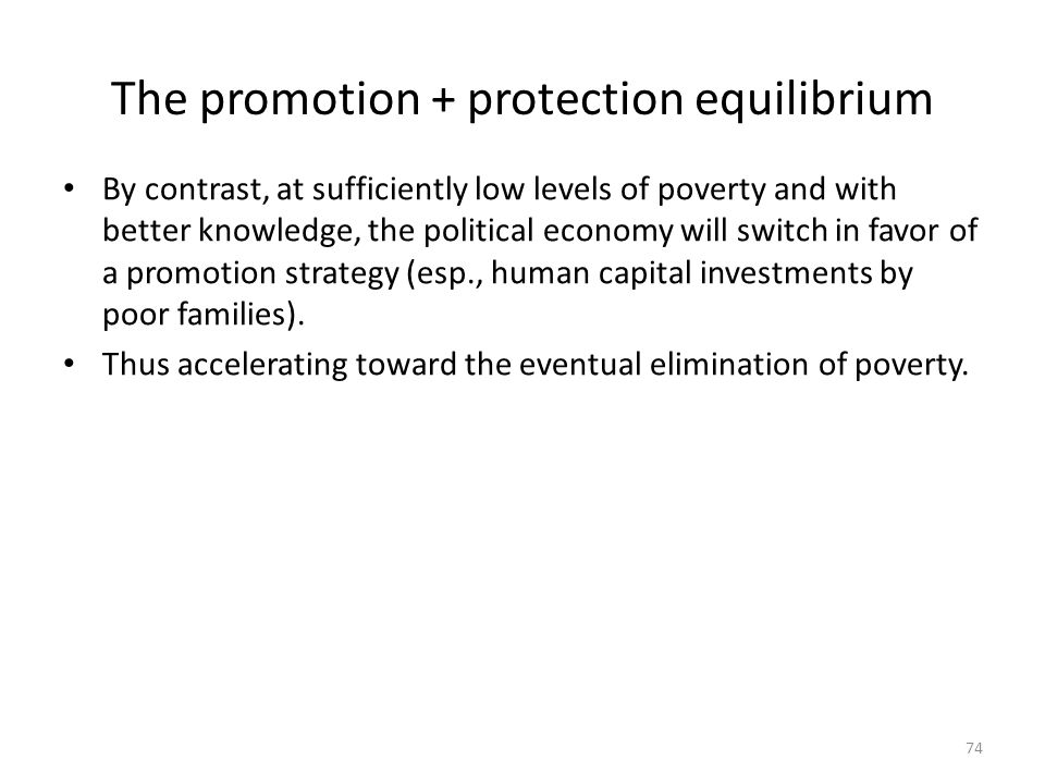 The promotion + protection equilibrium